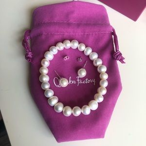 Quacker Factory Freshwater Pearl Jewelry Set